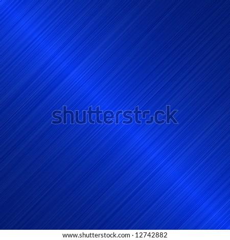 brushed blue metallic background with diagonal highlight - stock photo