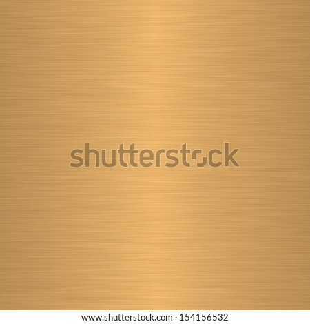 Brushed gold or brass as background - stock photo