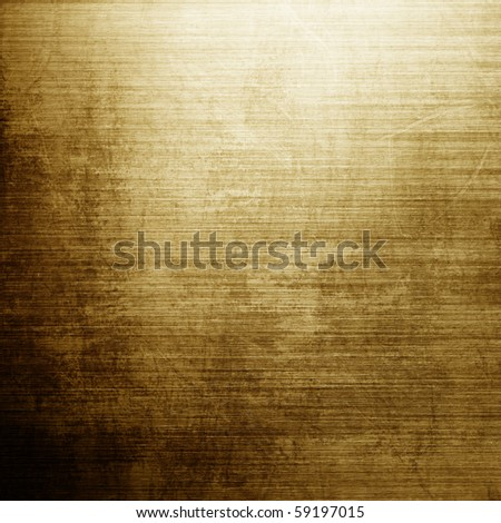 Brushed golden or bronze template - stock photo