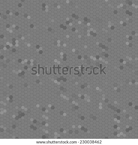 Brushed metal mosaic with shades of gray as background. - stock photo