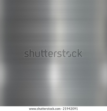 brushed metal surface with reflective light design - stock photo