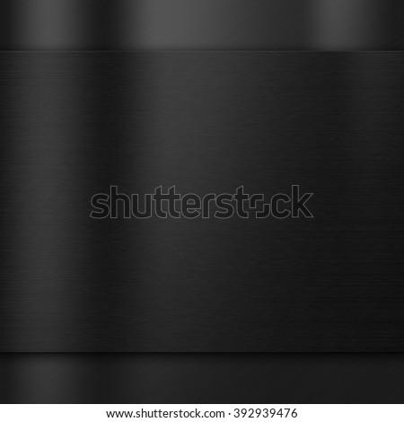 Brushed metal texture dark background - stock photo