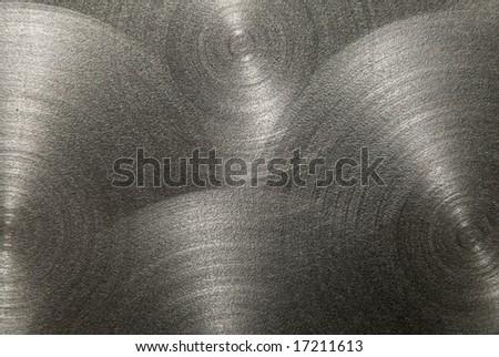 brushed metal with circular shape - stock photo