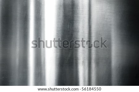 Brushed silver metal - stock photo