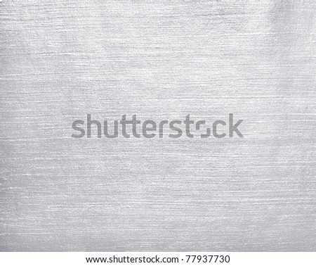 Brushed silver metal. - stock photo