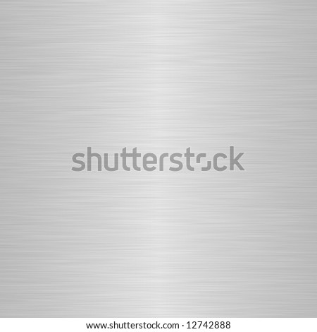 brushed silver metallic background with central highlight - stock photo