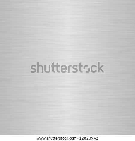 brushed silver metallic background with soft central highlight - stock photo