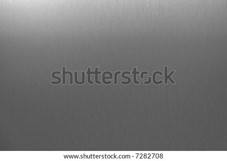 Brushed Stainless Steel Detail - stock photo
