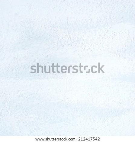 Brushed white on blue wall texture - grunge background - stock photo