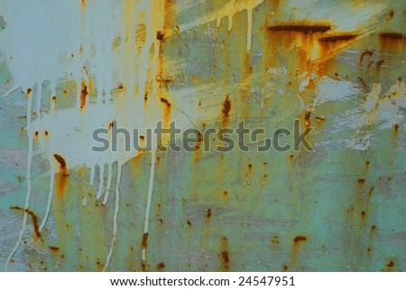 Brushed with blue rusty metal abstract background. - stock photo