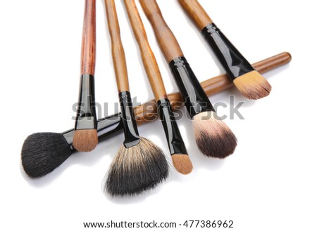 brushes for make-up isolated on white background