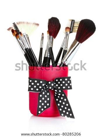 brushes for makeup isolated on white
