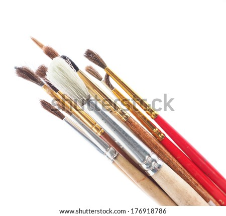 brushes for painting on a white background