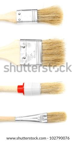 Brushes. On a white background. - stock photo