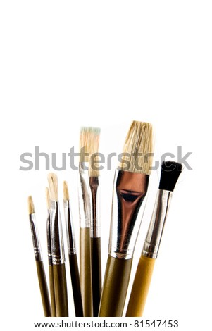 brushes on a white background