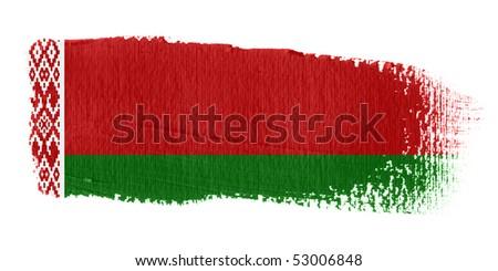 Brushstroke Flag Belarus - stock photo