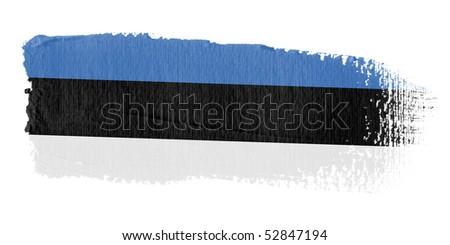 Brushstroke Flag Estonia - stock photo