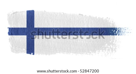 Brushstroke Flag Finland - stock photo