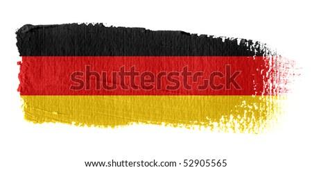 Brushstroke Flag Germany - stock photo