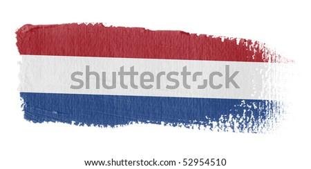 Brushstroke Flag Holland - stock photo