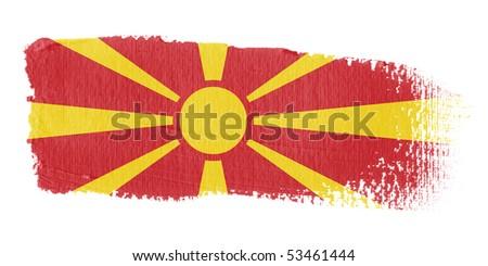 Brushstroke Flag Macedonia - stock photo