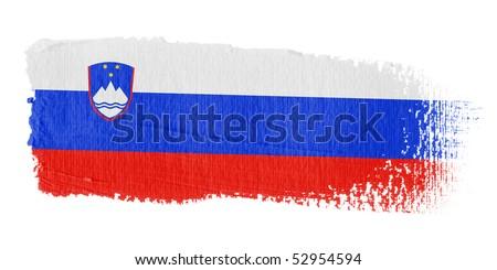 Brushstroke Flag Slovenia - stock photo