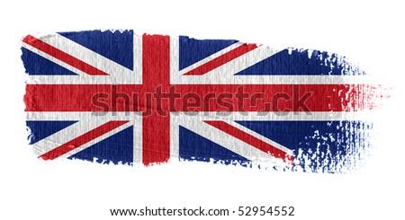 Brushstroke Flag Union Jack - stock photo