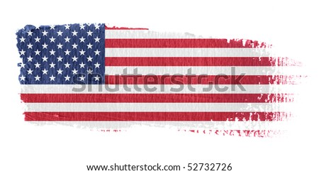 Brushstroke Flag United States - stock photo