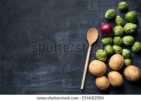 Brussel sprout food background - stock photo