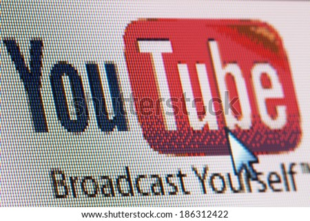 BRUSSELS - APRIL 09: Turkish ISPs make getting to YouTube a little easier, but haven't unblocked it yet on april 09 , 2014 in Brussels - stock photo