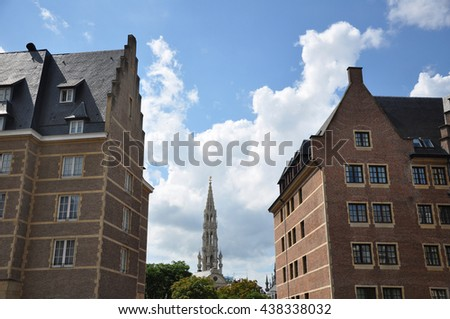BRUSSELS, BELGIUM-AUGUST 02,2012:SCENERY City of Brussels - stock photo