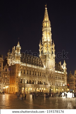 BRUSSELS, BELGIUM - MAY 12: Grand Place on May 12, 2006 in Brussels. Grand-Place in Brussels is UNESCO World Heritage Site.