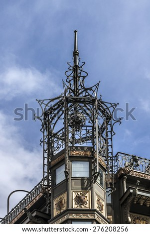 BRUSSELS, BELGIUM - MAY 11, 2014: The Musical Instrument Museum, located in the former Old England department store on the Coudenberg street. - stock photo