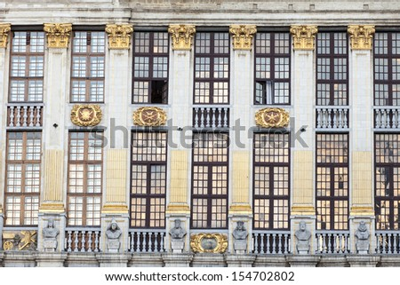 Brussels City Center Details, Belgium, Europe - stock photo