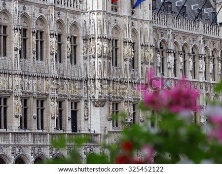 Brussels City Hall architecture detail - stock photo