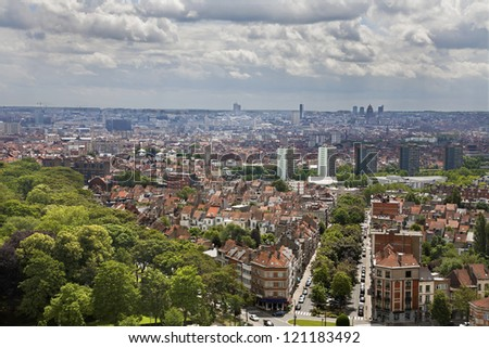Brussels - outlook from National Basilica of the Sacred Heart