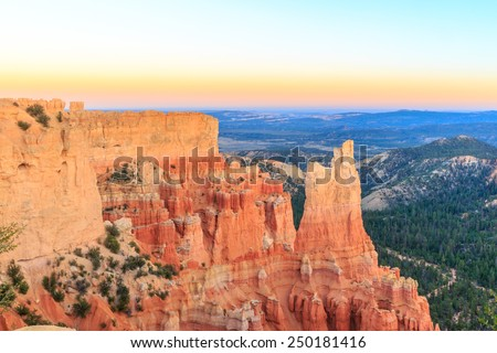 Bryce Amphitheater at sunset, in Bryce Canyon National Park