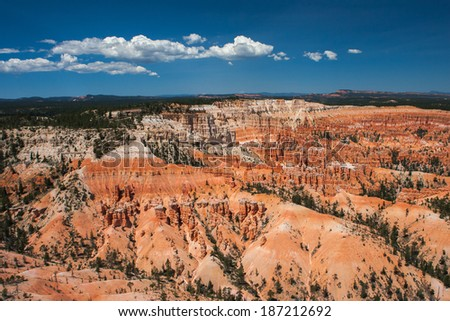 Bryce Canyon at sunset  viewed from Helicopter. Bryce Canyon Nat