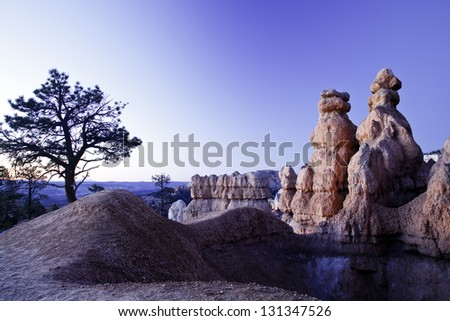 Bryce Canyon Hoodoos - stock photo
