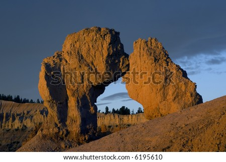Bryce canyon hoodoos at sunrise - national park, Utah. United States - stock photo
