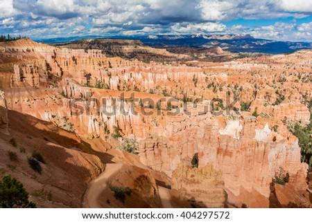 Bryce Canyon - Hoodoos. The incredible hoodoos of Bryce Canyon National Park, Utah. - stock photo