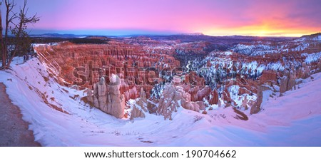 Bryce Canyon National Park at sunrise  - stock photo