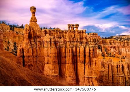 Bryce Canyon National Park, Utah USA. - stock photo