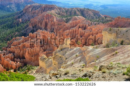 bryce canyon national park, utah, usa. multi colored erosion rock sandstone weathered hoodoos