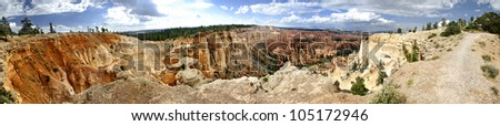 Bryce Canyon Panoramic, Bryce Canyon National Park, Utah, United States.