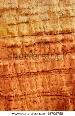 Bryce canyon rock texture