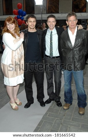 Bryce Dallas Howard, James Franco,Topher Grace, Thomas Hayden Church at talk show appearance for NBC Today Show Kicks Off SPIDER-MAN Week in NYC, Rockefeller Center, New York, April 30, 2007