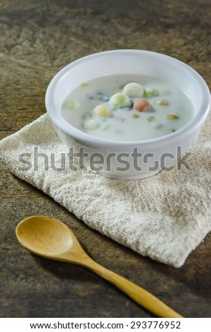Bua Loy (Rice Dumplings in Coconut Milk) asian dessert