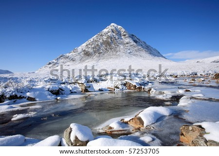 Buachaille Etive Mor. - stock photo