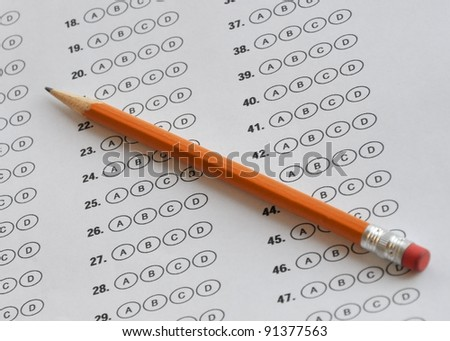bubble answer sheet - stock photo